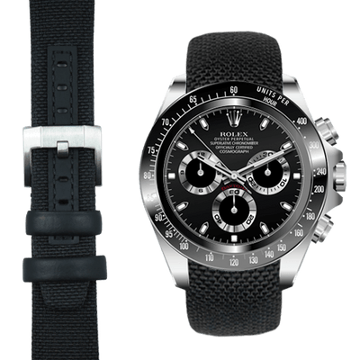 Daytona black nylon watch strap
