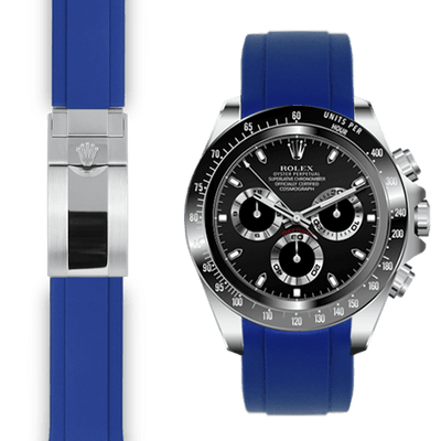 Rolex Daytona blue rubber deployant watch band
