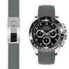 Rolex Daytona grey rubber deployant watch band