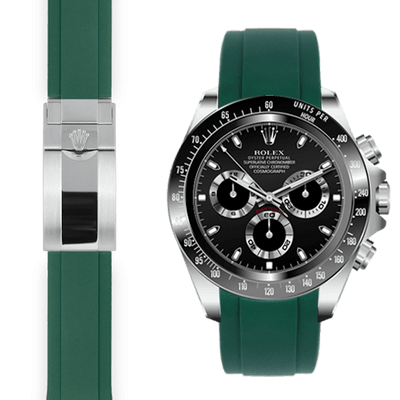 Rolex Daytona green rubber deployant watch band