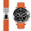 Rolex Daytona orange rubber deployant watch band