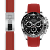 Rolex Daytona red rubber deployant watch band