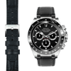 Rolex Daytona steel end link black alligator leather watch strap