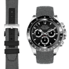 Daytona black and white nylon watch strap