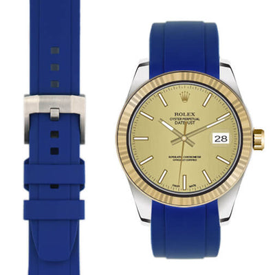 Rolex Explorer I Blue rubber watch strap