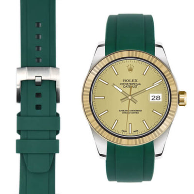 Rolex Explorer I Green rubber watch strap