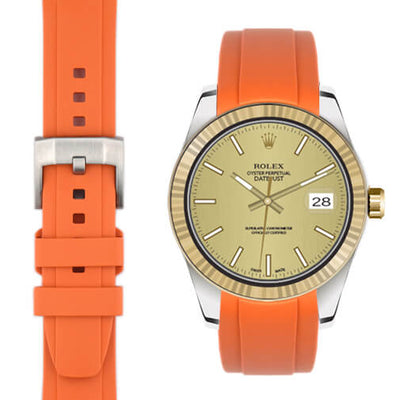 Rolex Explorer I Orange rubber watch strap