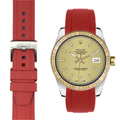 Rolex Explorer I Red rubber watch strap
