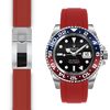 Rolex GMT Ceramic red rubber deployant watch strap