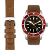 Tudor Black Bay Chronograph chestnut leather watch strap