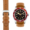 Tudor Black Bay Chronograph tan leather watch strap