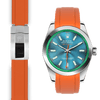 Rolex Milgauss orange rubber deployant strap