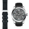 Rolex Oyster perpetual black alligator leather watch strap