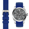 Rolex Oyster perpetual blue rubber watch strap