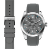 Rolex Oyster perpetual grey rubber watch strap