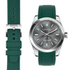 Rolex Oyster perpetual green rubber watch strap