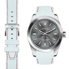 Rolex Oyster Perpetual white racing leather watch strap