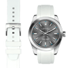 Rolex Oyster perpetual white rubber watch strap