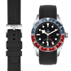 Tudor GMT Black rubber watch strap