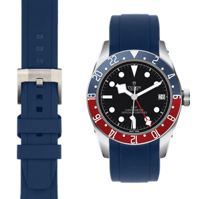 Tudor GMT Blue rubber watch strap