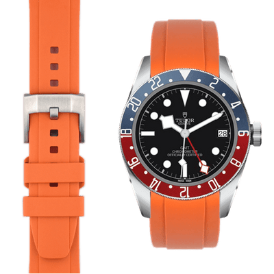 Tudor GMT Orange Rubber watch strap