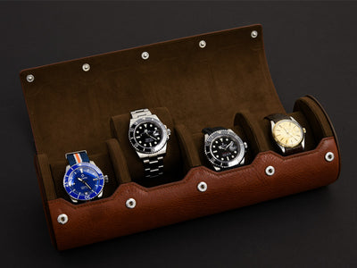 The Everest Watch Roll in Heritage Brown