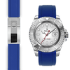 Rolex Yacht Master Blue rubber deployant watch strap