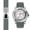 Rolex Yacht Master grey rubber deployant watch strap