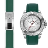 rolex Yacht Master green rubber deployant watch strap