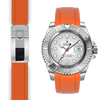 Rolex Yacht Master Orange rubber deployant watch strap