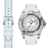 RolexYacht Master white racing leather watch strap