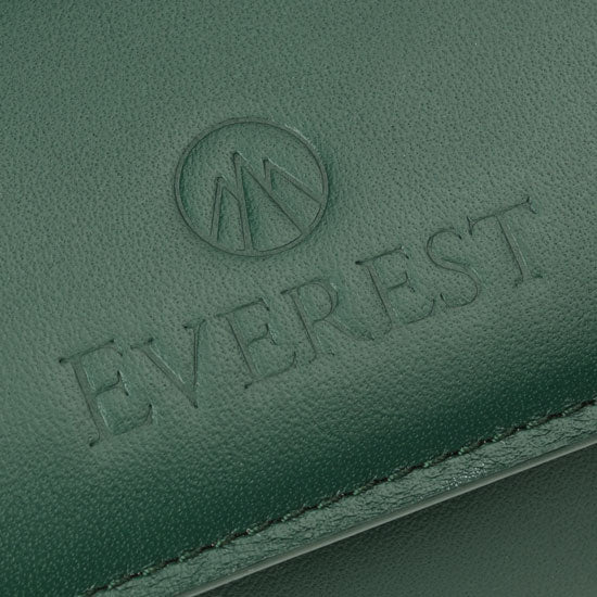 green leather of Everest watch roll