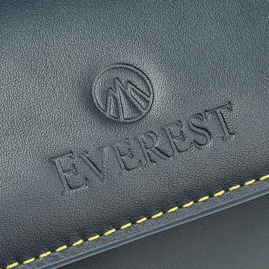 blue leather of Everest watch roll
