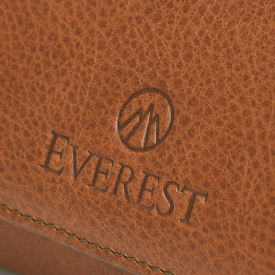 Heritage brown leather on Everest watch roll