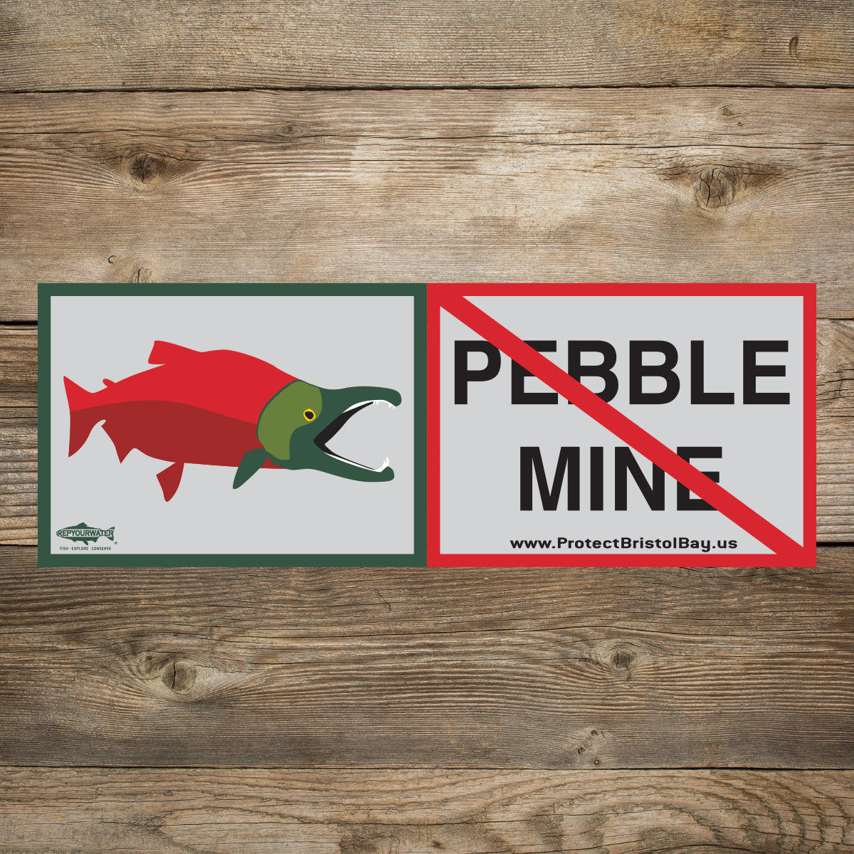 No Pebble! Sticker