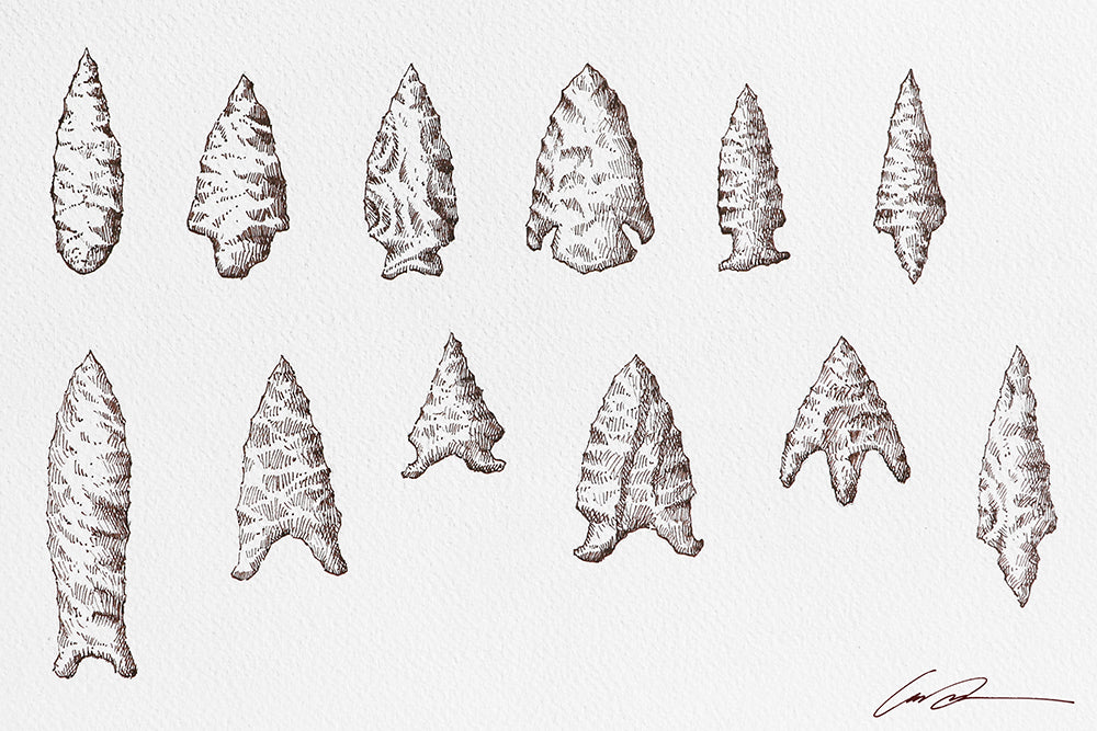Arrowheads Fine Art Original