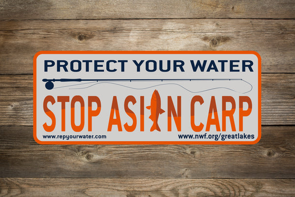 Stop Asian Carp! Sticker