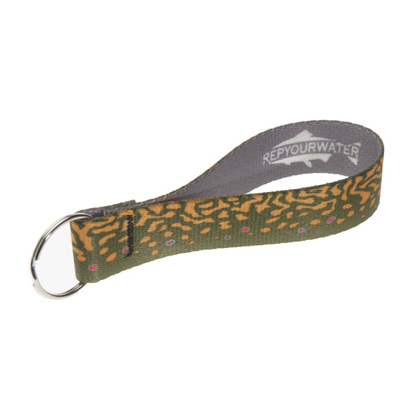 Brook Trout Skin Key Fob