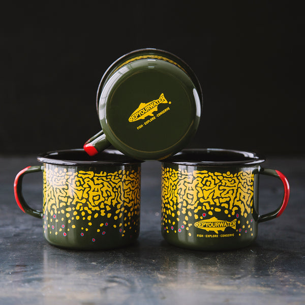 Enamel Camp Mug Brook Trout Skin Rep Your Water