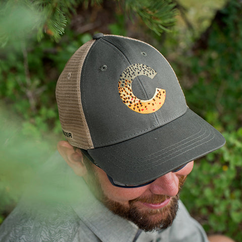 67b8f609a3ba2 Colorado Brown Trout Skin Hat Colorado Brown Trout Skin Hat