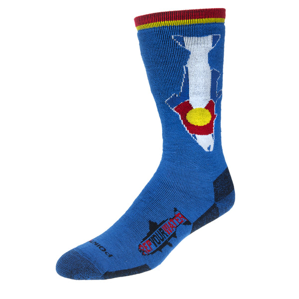 NEW! Colorado Flag Trout Socks