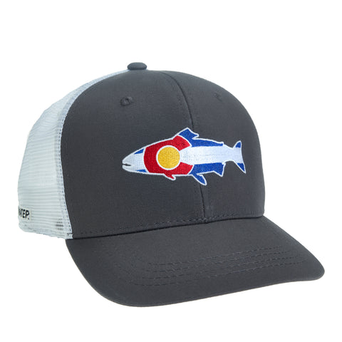 Colorado Flag Trout Hat - High Profile