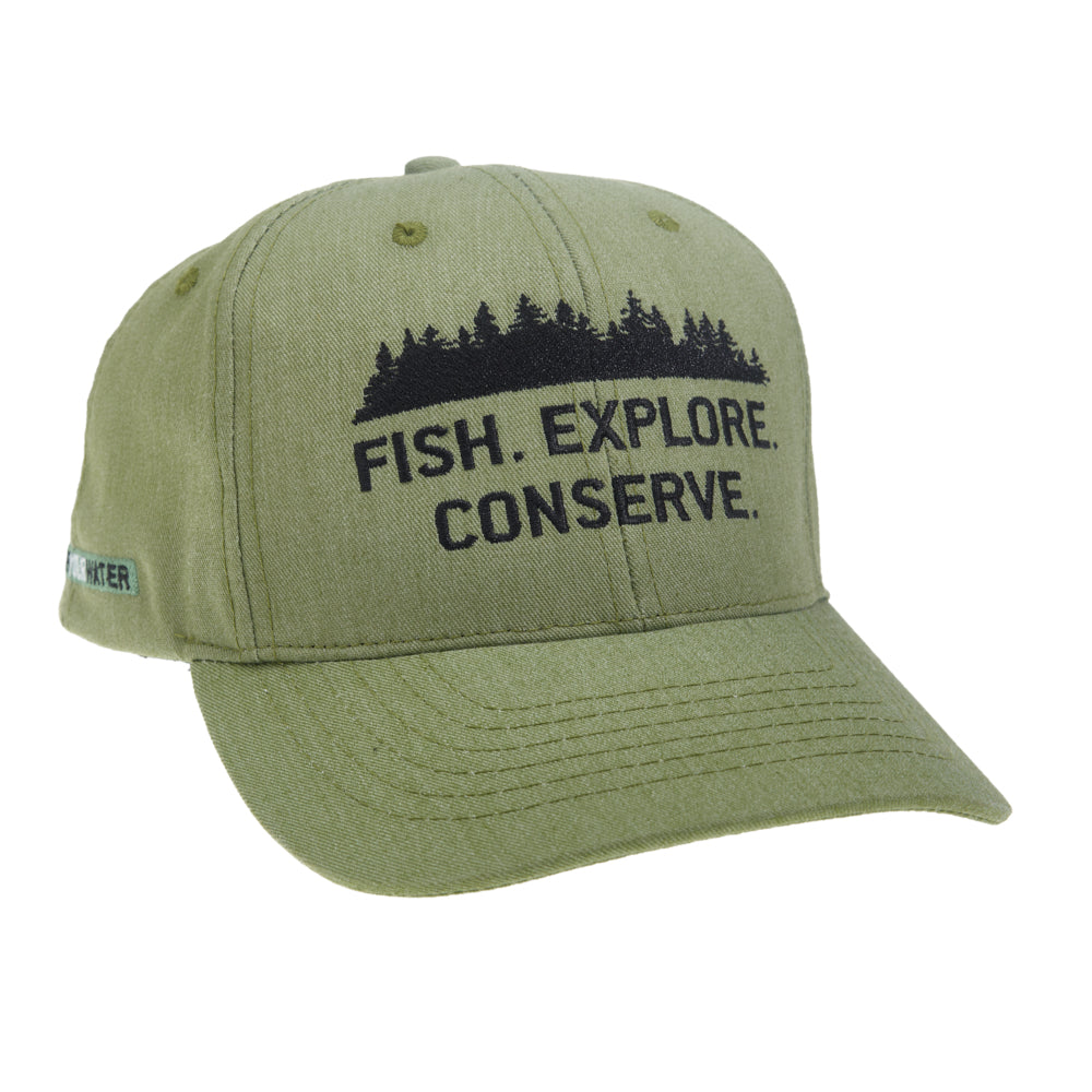 Fish. Explore. Conserve. Eco-Twill Hat