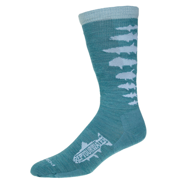 NEW! Saltwater Fish Spine Light Weight Socks