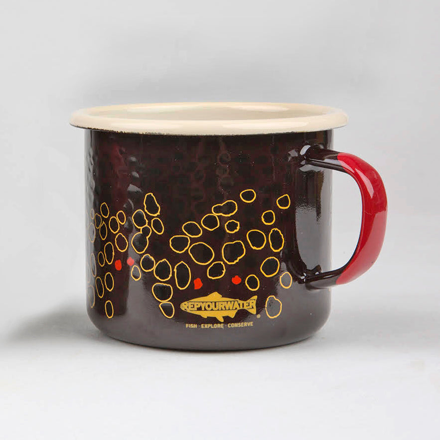 Enamel Camp Mug - Brown Trout Skin