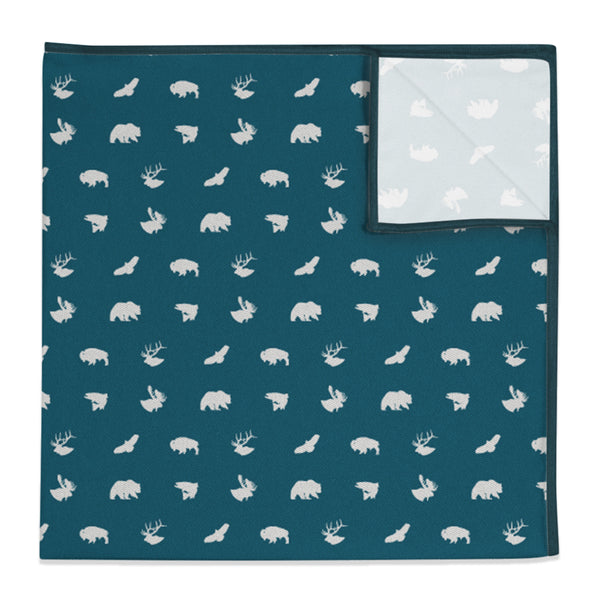 Wild Creatures Pocket Square