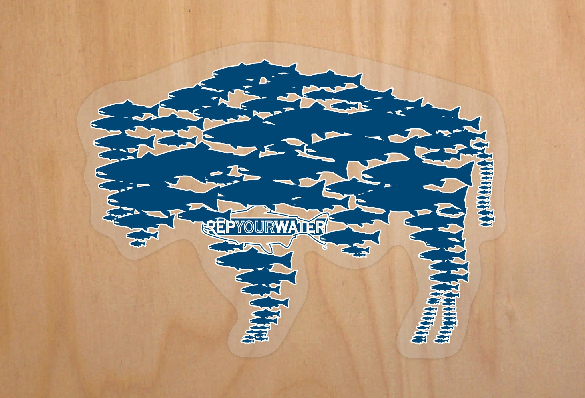 River Buffalo Sticker