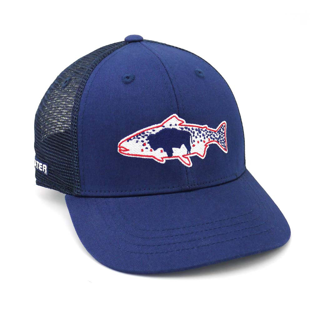 RepYourWater Wyoming Flag Fly Fishing Hat