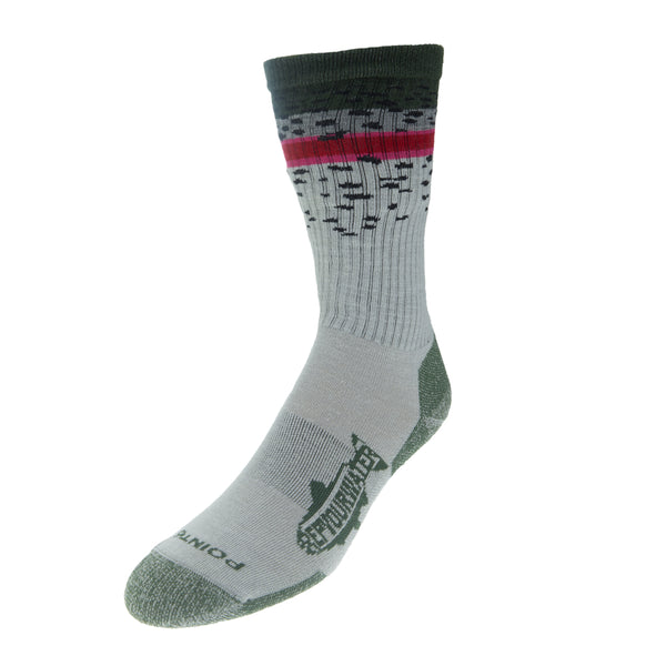 Trout Socks: Rainbow Trout Band-Extra Light