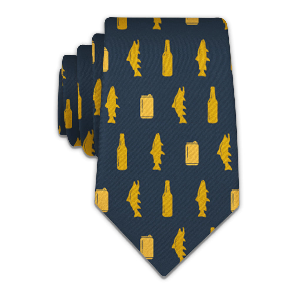 Trout and Beer Necktie